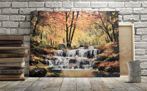 Bild Wasserfall im Herbst