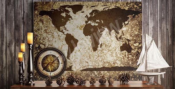Bild Weltkarte Retro
