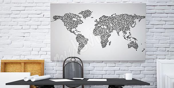 Bild Weltkarte schwarz-weiß