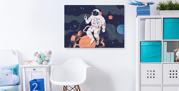 Bild Weltraum und Astronaut