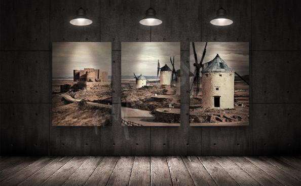 Bild Windmühle - Triptychon
