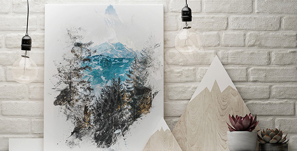 Naturbild in Aquarell