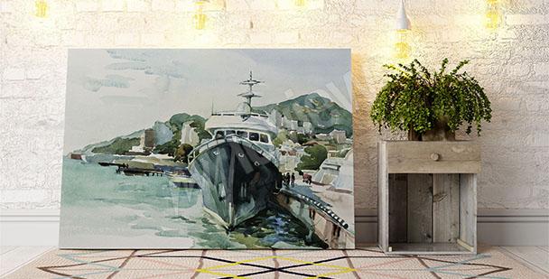 Bild Yacht im Hafen
