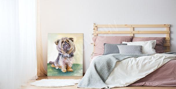 Bild mit Hund für das Wohnzimmer