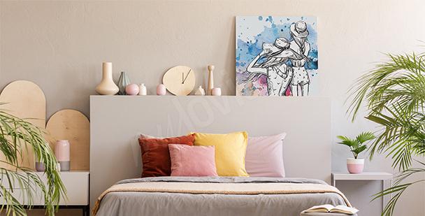 Bild fürs Schlafzimmer Aquarell