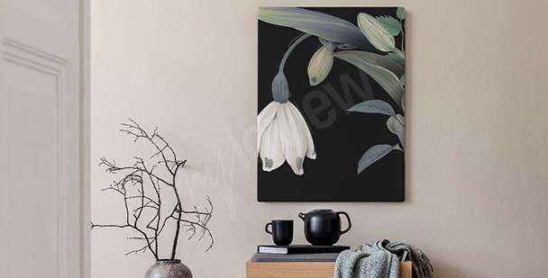 Bild für Schlafzimmer Blumen