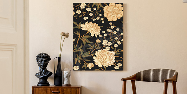 Blumenbild Retro