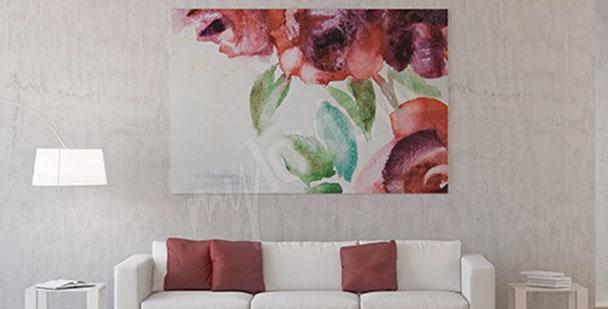 Blumenbild Rosenaquarelle