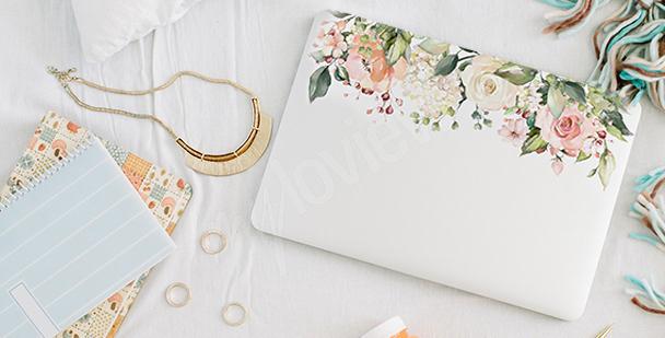 Blumensticker für den Laptop