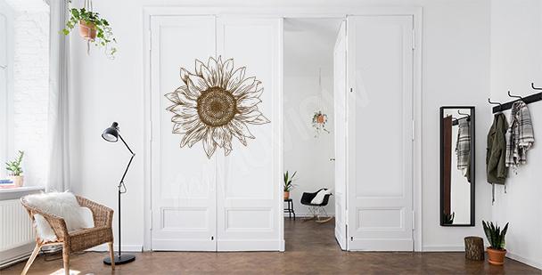Blumensticker für die Tür