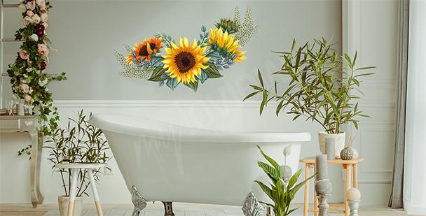 Blumensticker fürs Badezimmer