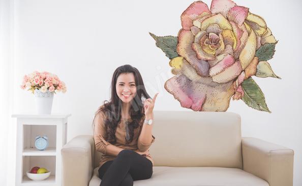 Blumensticker fürs Wohnzimmer