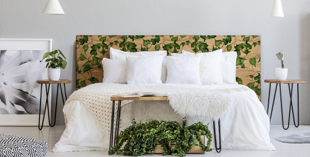 Botanischer Sticker fürs Schlafzimmer
