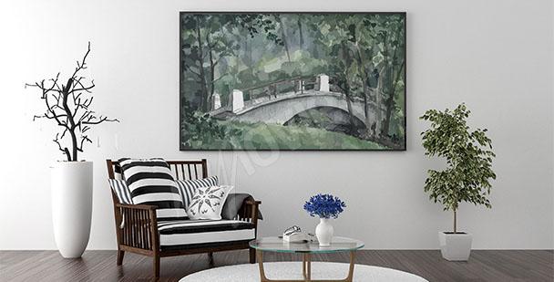 Brückenbild im Wohnzimmer