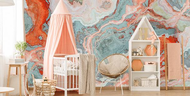 Bunte Fototapete fürs Kinderzimmer
