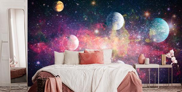 Bunte Fototapete Galaxy