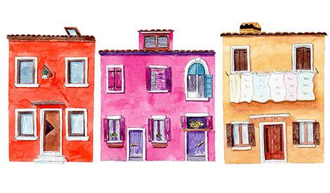 Bunte Häuser