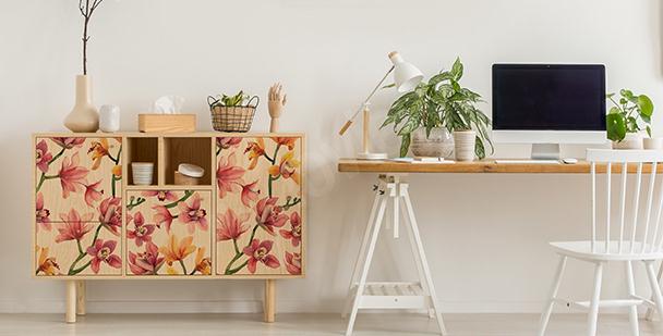 Bunter Sticker im floralen Stil