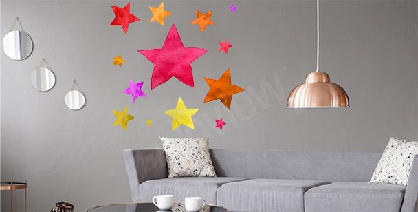 Bunter Sticker Sterne