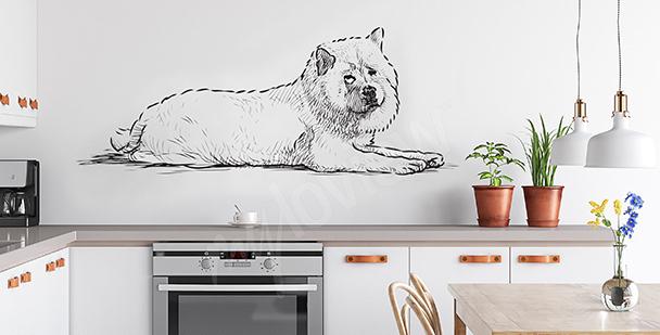 Cartoonartiger Sticker Hund