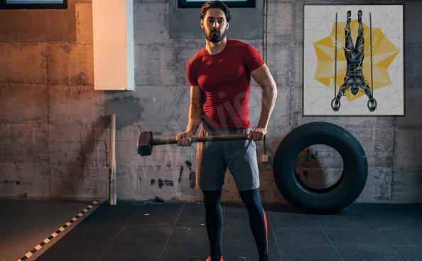 Crossfit-Poster - Bodybuilder im Fitnessstudio