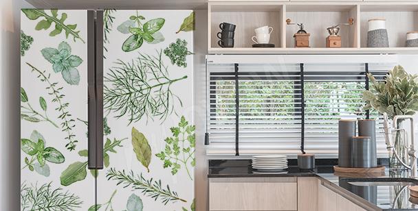 Dekorativer Sticker für den Kühlschrank
