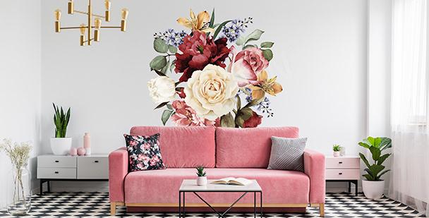 Dekorativer Sticker mit Blumen