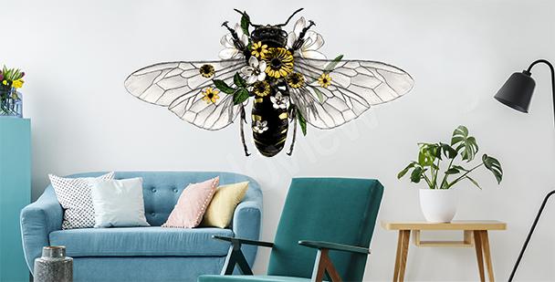 Dekorativer Sticker mit einer Biene
