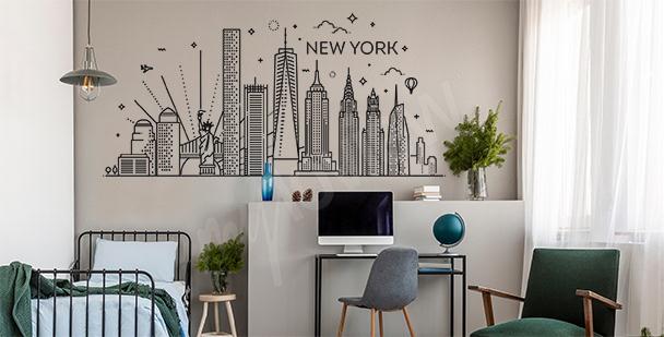 Dekorativer Sticker New York City