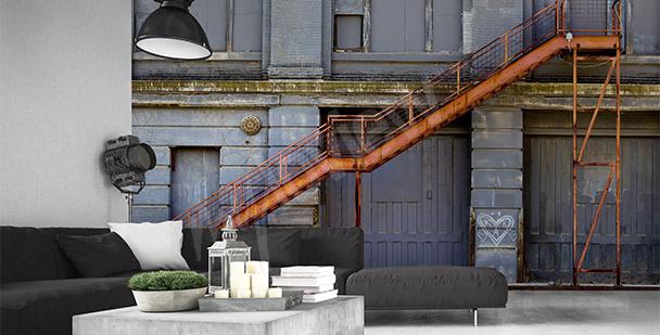 Dreidimensionale Fototapete mit Treppe