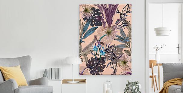 Exotisches Bild im floralen Stil