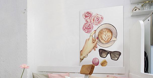 Feminines Bild Kaffee