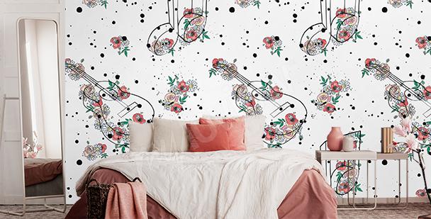 Florale Fototapete fürs Schlafzimmer