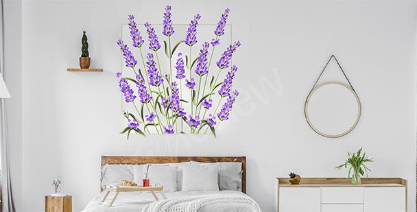 Floraler Wandsticker
