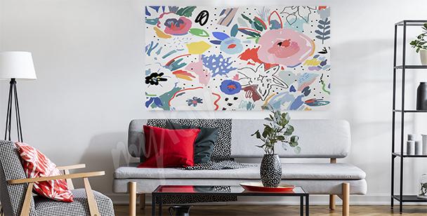 Florales Bild fürs Wohnzimmer