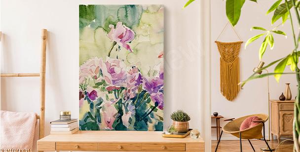 Florales Bild mit Aquarell