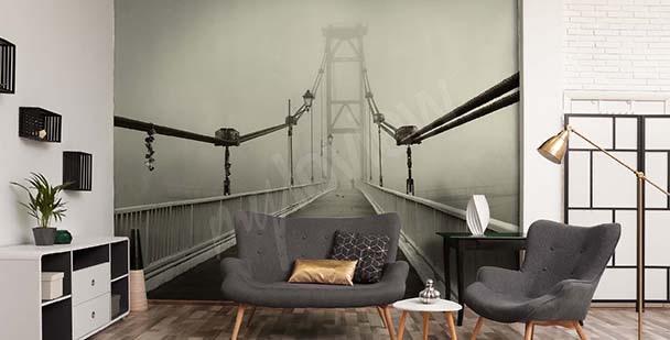 Fototapete 3D Brücke im Nebel