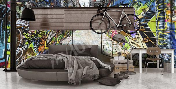 Fototapete 3D-Graffiti