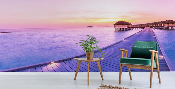 Fototapete Abend auf den Malediven