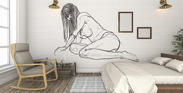 Fototapete Aktbilder Schlafzimmer
