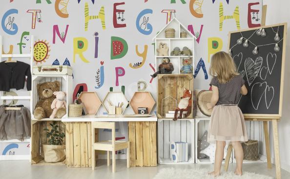 Fototapete Alphabet für Kinder