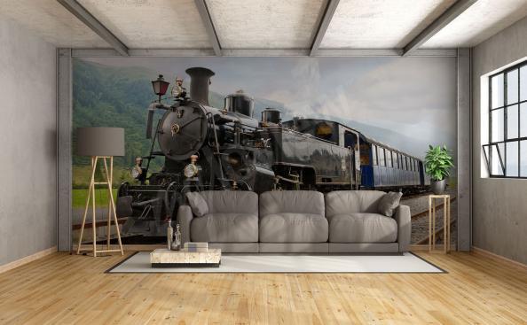 Fototapete alte Lokomotive