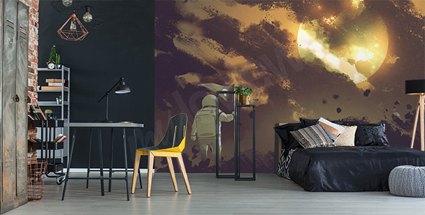 fototapeten nach kategorie weltall fototapete. Black Bedroom Furniture Sets. Home Design Ideas