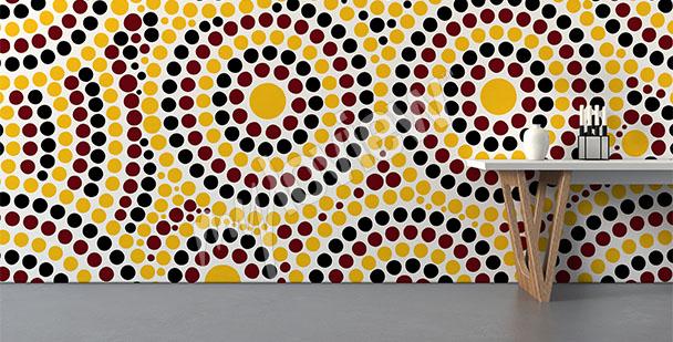 Fototapete australisches Mosaik