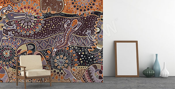 Fototapete australisches Muster