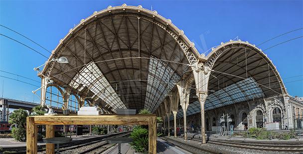 Fototapete Bahnhof in Nizza