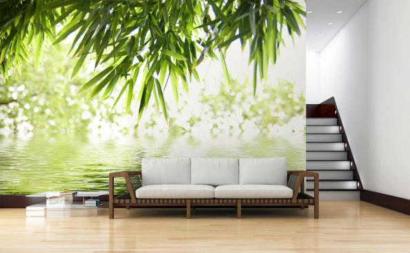 Fototapete Bambusblätter