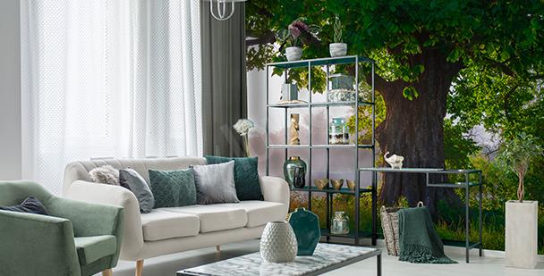 Fototapete Baum fürs Wohnzimmer