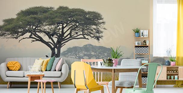 Fototapete Bäume in Tansania
