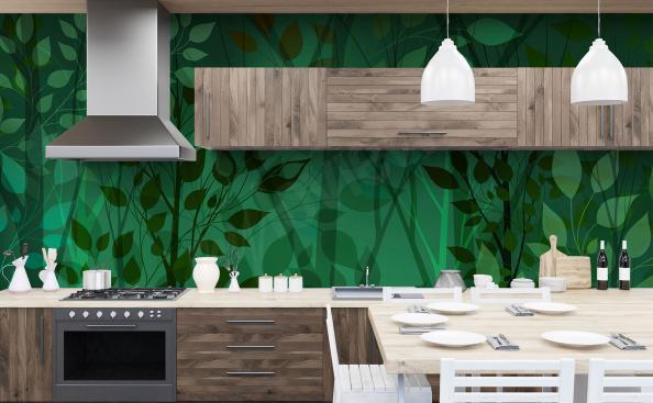 Fototapete Blätter für Küche